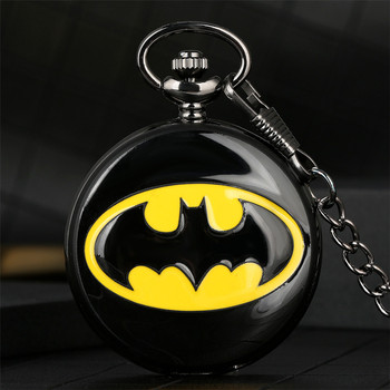 Batman Theme Quartz Pocket Watch Cool Boys Xmas Gifts Retro Punk Clock Chain Hot Sale Pendant Watches - discount item  31% OFF Pocket & Fob Watches