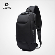 OZUKO 2019 New Multifunction Crossbody Bag for Men Anti-thef