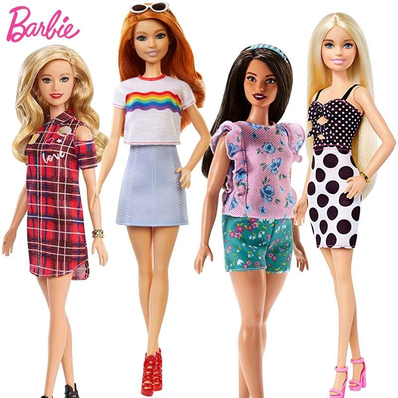 Fashionistas Original Puppe Körper Set Spielzeug für Mädchen Barbie Puppe Regenbogen Kleid Zubehör Kleidung Baby Spielzeug Geschenk Puppen für Mädchen