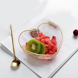 Talerze danie sos sól kryształ przezroczysta szklana miska na owoce do octu Fitness przekąski ciasto stojak solidna soja