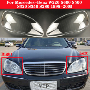 For Mercedes-Benz W220 S600 S500 S320 S350 S280 1998-2005 Car Headlight Headlamp Clear Lens Auto Shell Cover