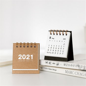 2021 Simple Mini Desktop Paper Portable Work Note Calendar Daily Scheduler Table Planner Yearly Agenda Organizer Back To School 1