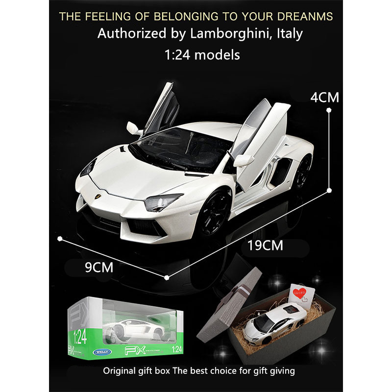 welly 1 24 Lamborghini LP700 car alloy car model simulation car decoration collection gift toy Die casting model boy toy in Diecasts Toy Vehicles from Toys Hobbies