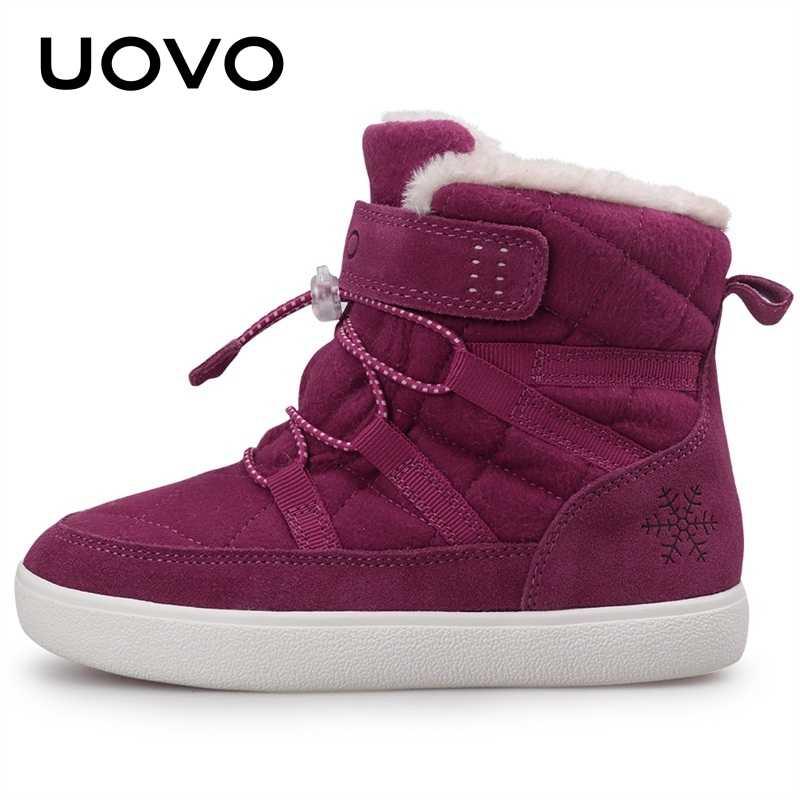 2019 UOVO 新到着冬の子供の雪のブーツファッション子供暖かいブーツとぬいぐるみライニング #31- 37