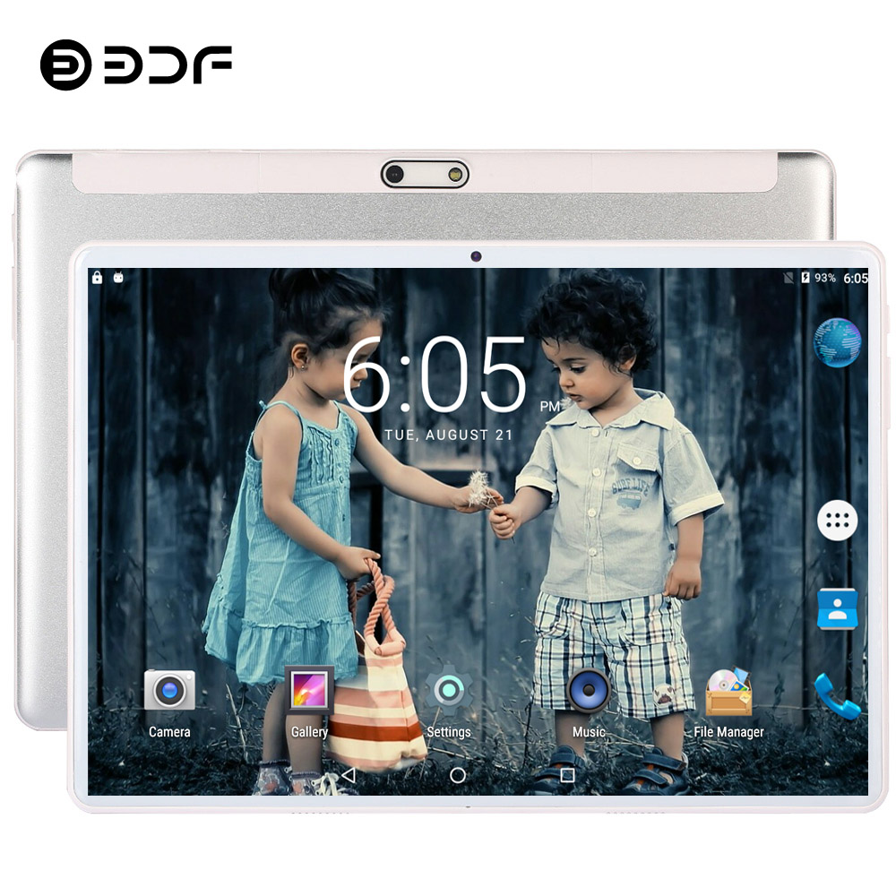 New System 10.1 Inch Tablet PC 3G Phone Call Android 7.0 Wi-Fi Bluetooth 1GB/32GB Quad Core Dual SIM Support Tablet+keyboard