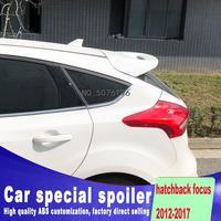 Para ford focus spoiler 2012 2017 foco hatch back spoiler alta qualidade material abs asa traseira do carro primer cor spoiler traseiro|Spoilers e aerofólios| |  -