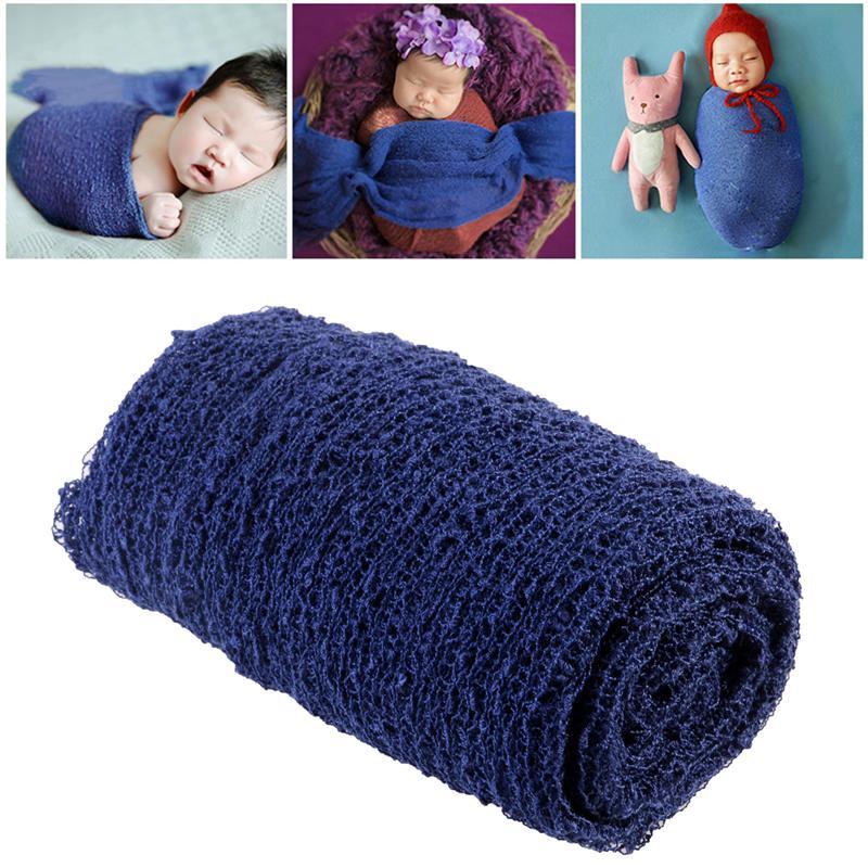 Baby Photography Props Blanket Wraps Stretch Soft Knit Wrap Newborn Photo Wraps Cloth Accessories Baby Swaddling Wrap