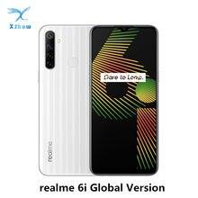 Realme 6i versão global 6 i telefone móvel 4gb ram 128gb rom 5000mah bateria helio g80 6.5