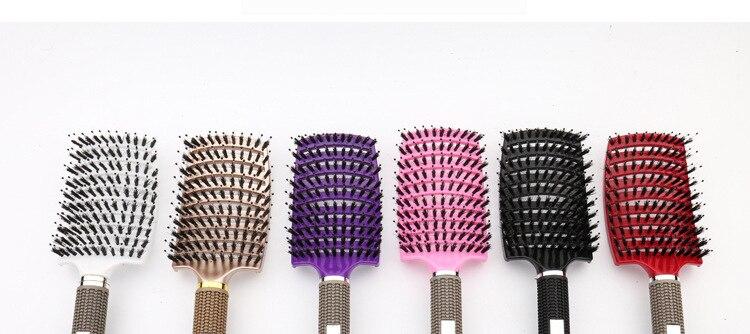de cabelo profissional escova de cabelo couro