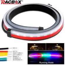 RACBOX, feux de Stop arrière supplémentaires à double effet Flexible avec clignotant, 1/7 couleurs, 90/100cm, de style de voiture, LED couleurs