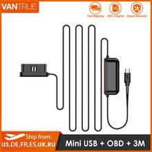 Vantrue mini usb tipo c obd hardwire kit 10ft carregador de carro cabo para vantrue n2 pro, t2, n2, n1 pro traço cams para 24 horas monitor