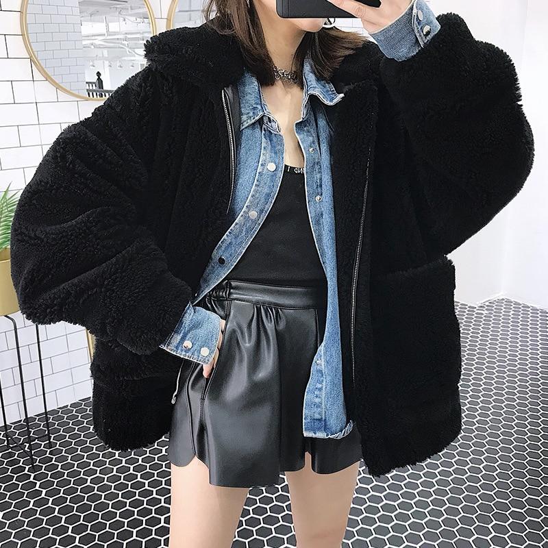 Real Fur Coat Women Sheep Shearing Winter Coat Women Korean 100% Wool Jacket Women Clothes 2020 Manteau Femme BL-1038 YY1074