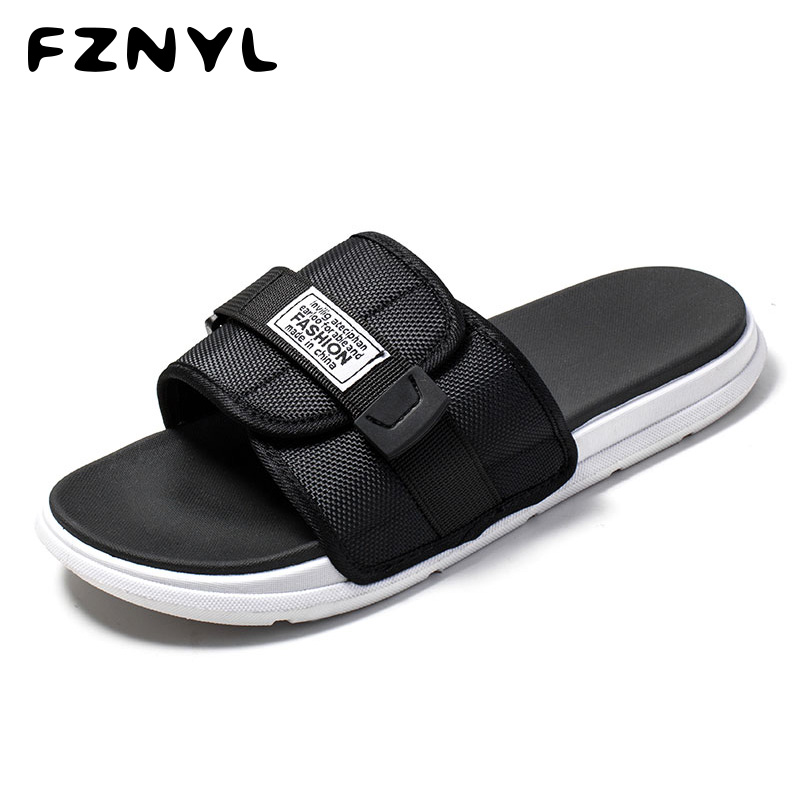 FZNYL Big Size 35-46 Fashion Outdoor Slippers Men Women Soft Comfortable Beach Casual Shoes Non-slip Summer Slides Flip Flops