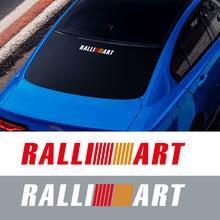 1 pçs/set Ralliart Logo Trunk Corpo Decalques Da Janela Lateral Do Carro Para Mitsubishi Lancer EX Outlander Adesivos Refletivos Competição