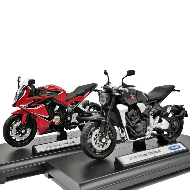 Welly 1:18 Honda CNR650F Red CB1000R Black 2018 Diecast Motorcycle