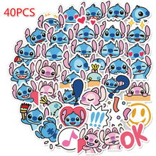 40Pcs Cartoon Stitch Stickers Graffiti Punk Waterproof Decal Laptop Motorcycle Luggage Snowboard Car Sticker