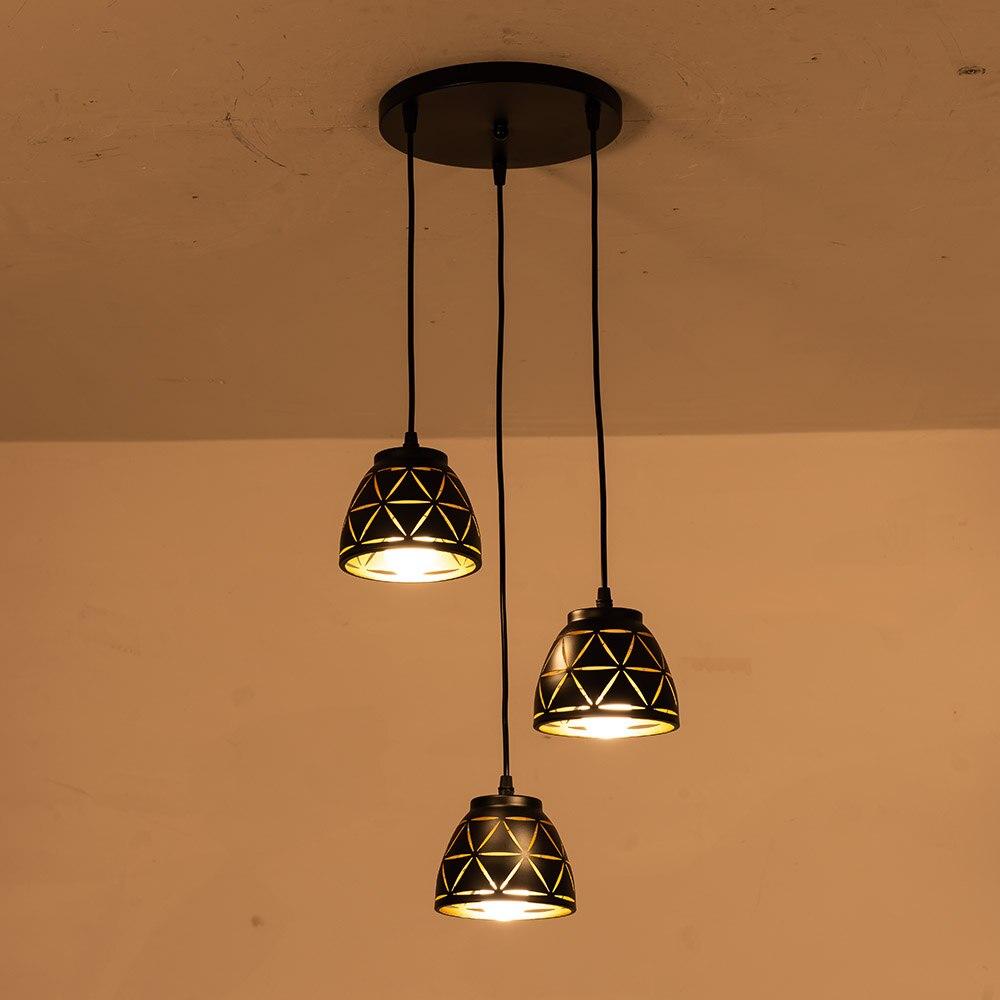 Vintage Pendant Light Nordic Porous Loft E27 LED Iron Hollow Lampshade Bar Restaurant Lamp Creativity Dining Rust Pendant Lamp