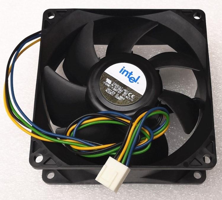 New For Nidec 9238 9038 9cm Fan 4-wire Double Ball F09e-12b1s1 12V 0.88a Pwm Cooling Fan 92mm
