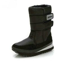 Männer schuhe Winter Stiefel Schuh Solid Black Schnee Stiefel Plus größe 36 zu Große 47 Marke stil warme männlichen booties kostenloser versand beste verkaufen