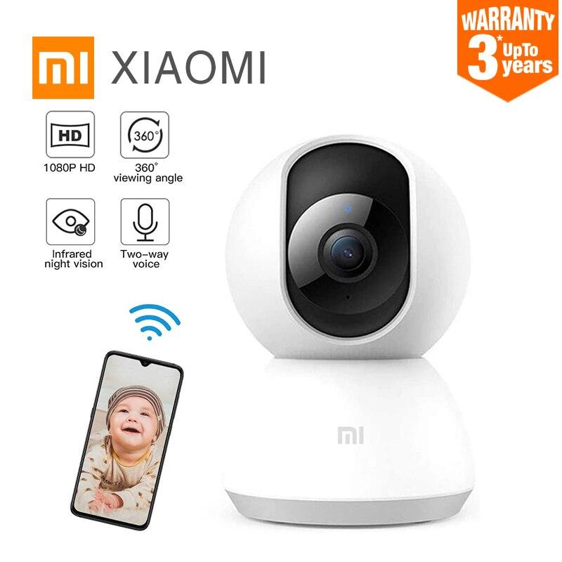 Глобальная версия Xiaomi Mi умный дом безопасности камера 360 ° 1080P HD и поддержкой Wi Fi камера ночного видения IP обнаружения сигнала тревоги веб камеры видео детский монитор безопасности Видеокамеры 360 °      АлиЭкспресс
