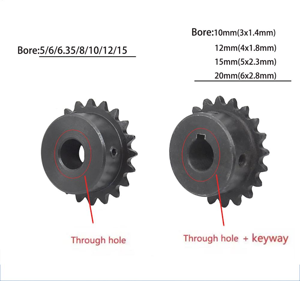 """Chain Drive Sprocket Wheel 12T Bore 10mm Pitch 1//4/"""" 6.35mm For 04C Chain"""