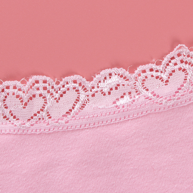 3pc/Lot Cotton Dot Lace Bras Kids Girls Sports Training Chid Underwear Crop Top 8-14 Years 6