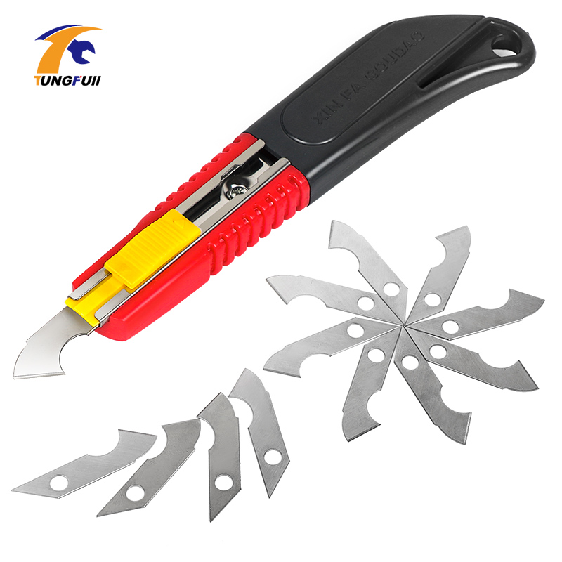 Hook Knife Acrylic CD Cutting Tool Knife Blade Steel Hook Blades Cutter DIY Hand Tools For ABS Plate Acrylic Board Plastic Sheet