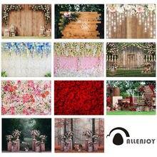 Allenjoy Свадебный Фотофон с изображением деревянного пола Розы