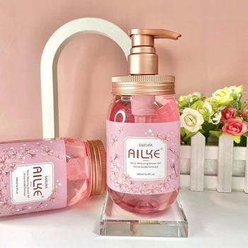 Whole Sale Fragrance Pure Purifying Body Wash Sakura Skin Whitening Shower Gel/500ml Gel Hidroalcoholico Bath And Body Works 1