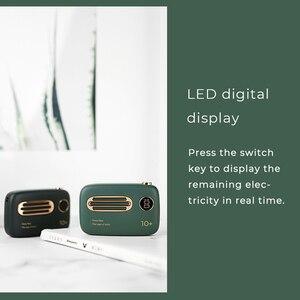 Image 3 - ELFTEAR T37 Mini banco de energía 10000Mah lindo Retro Delgado LED Digital Powerbank carga rápida para Iphone Samsung batería externa
