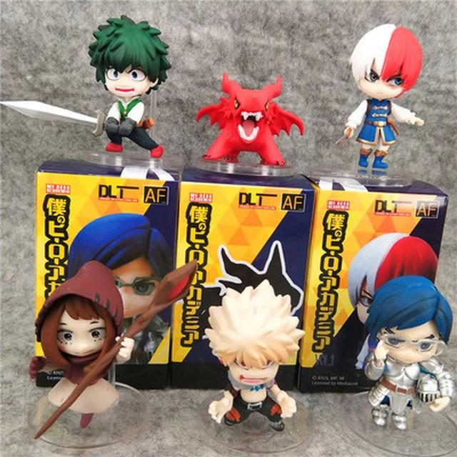6pcs/set Anime My Hero Academia Todoroki Shoto /Bakugou Katsuki /Midoriya Izuku Action Figure Collection model toy gifts 7cm
