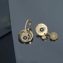 2019 Morocco gold evil eyes design irregular earrings special unique cool earrings women girl free shipping