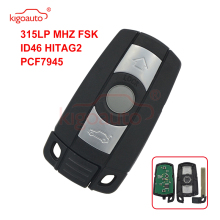 Kigoauto smart remote key 3 button 315LP CR2032 for BMW KR55WK49127 E39 E60 E61 E46 E38 E53 328i 335i 528i 535i 550i 2008-2011