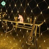 LED Curtain Lcicle Christmas Tree String Lights 1.5M?1.5M 3M?2M 6M?4M Festival Decoration Wedding Garland Xmas Fairy Net Light