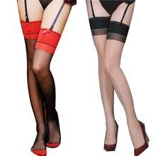 1/2Pair Over Knee Mesh Stockings Women Nightclub Party Nylon Fishnet Sheer Oil Shine Thigh High