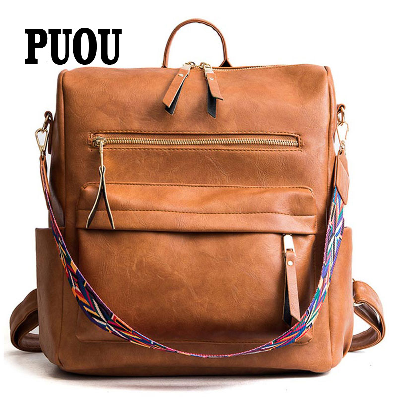 Large Backpack Women PU Leather Rucksack Women's Knapsack Travel Backpacks Shoulder School Bags Mochila Back Pack 2020 New
