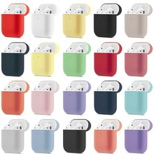Liquid Silicone Earphone Case for Apple Airpods 2 Cover Bluetooth Charging Box Simple Candy Colors AirPods Anti-knock