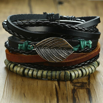 Braceles 4 τεμάχια tribal ethnic tree.