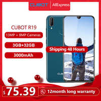 """Cubot R19 Smartphone 5.71"""" Waterdrop Full Screen 3GB+32GB Android 9.0 Pie Helio A22 Dual Camera 13MP Face ID Cellura 4G LTE"""