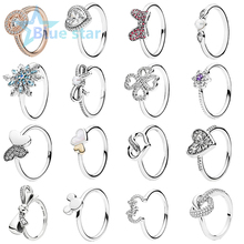 Bule Star 100% 925 Sterling Silver  Forget Me Not Flower Crystalized Snowflake Vintage Allure  Ring santoro london закладка магнитная forget me not all these words