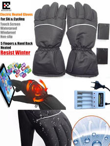 Electric-Heating-Gloves Ski-Gloves Self-Heated Hunting Waterproof Aa-Battery Touch-Screen