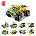 313 шт. серия пожарных машин игрушки для подарка LegoINGlys городские строительные блоки грузовики Детские кирпичи игрушки развивающие игрушки 8 ...