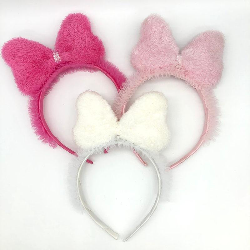 1 PC Hair Bows Girl Glitter Rainbow Hairbands Princess Sequin Party Kid Headw HF