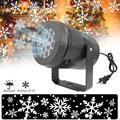 Светодиодный светильник в виде снежинок, белый проектор в виде снежинок, рождественские, праздничные, семейные, вечерние, специальные лампы