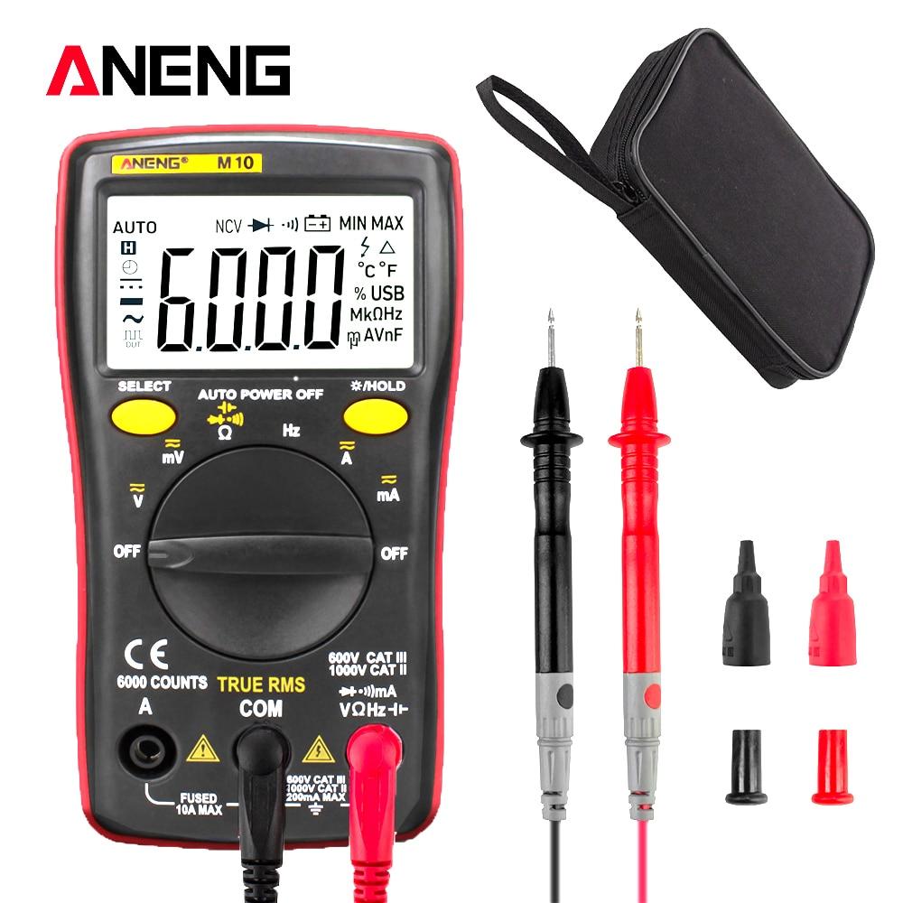 ANENG M10 Digital Multimeter 6000 Counts Multimetro Multitester Profissional Transistor Tester Analogico Esr Lcr Meter