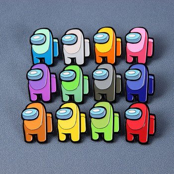 Impostor Among Us Seems Kinda Sus To Me Enamel Brooch Pins Badge Lapel Pins Brooches Alloy Metal Fashion Jewelry Accessories image