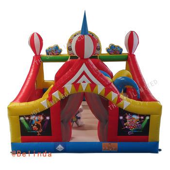 Bezpłatna ekspresowa wysyłka 5x5m cyrk nadmuchiwany gumowy dom nadmuchiwany klaun zamek do skakania tanie i dobre opinie CN (pochodzenie) Nadmuchiwane wykidajło 2-4 lat 5-7 lat 8-11 lat 12-15 lat Trampoliny THLB-Bounce game004 Circus Inflatable Bounce House