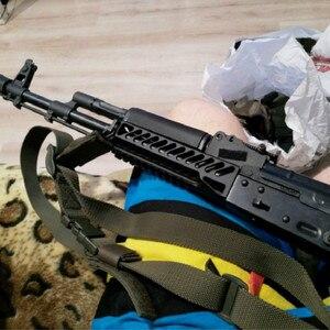 Image 3 - Magorui ak47 ak74 tactical sistema ferroviário arma único lado picatinny ferroviário handguard