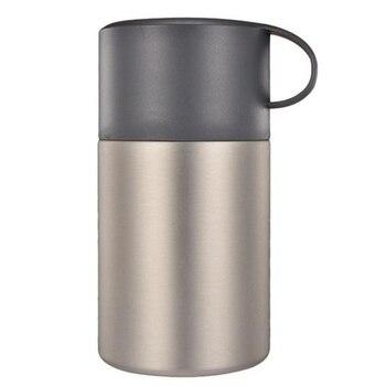 ¡Promoción! Botella de vacío de acero inoxidable de 600 Ml, frasco de alimentos estofado de vaso térmico, olla aislante, sopas, termos con portátil