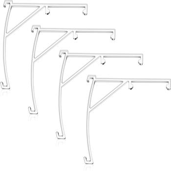 Falbany plastikowe rolety pionowe wsporniki 3 5 Cal rolety pionowe przezroczysty z tworzywa sztucznego na elementy do rolet akcesoria komponenty (8) tanie i dobre opinie CN (pochodzenie) 1 sset 8pcs Stałe NONE Karnisze Utworów i akcesoria Kurtyna Tie Pierścienie i Klamry Nowoczesne Roller Blind Chain